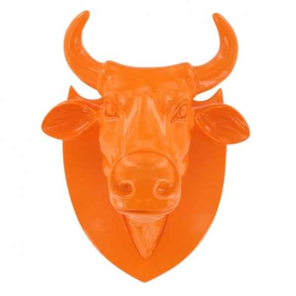 Vache tete orange Art in the City -80985