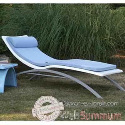 Longue Chaise Bleu Art Am10 Design Mely Vagance Clair Blanche Matelas GzpSMVqU
