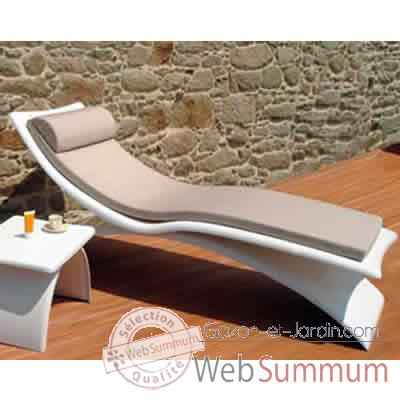 Video Chaise longue design Vagance grise matelas blanc Art Mely - AM12