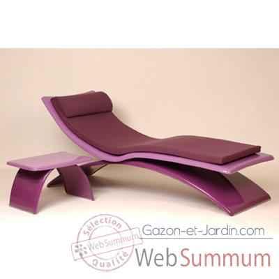 Lilas Mely Chaise Vagance Longue Matelas Art Design Am02 Violette wPOkiuXTZ