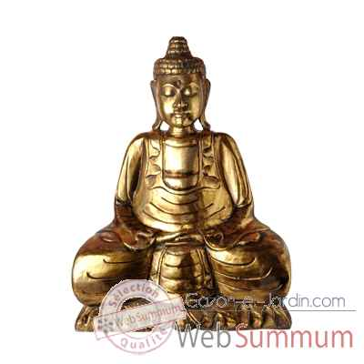 Bouddha assis finition doree 50 cm Bali -BSch50G