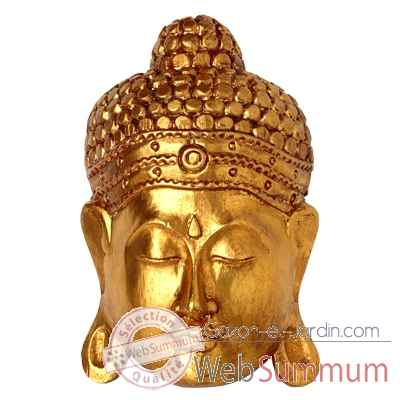 Masque de bouddha finition doree 30 cm Bali -MasB30G