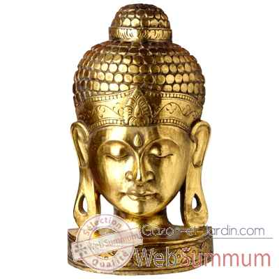 Masque de bouddha finition doree 50 cm Bali -MasB50G