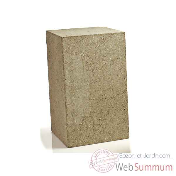 Piedestal et Colonne-Modele Display Pedestal Medium, surface granite-bs1015GRY