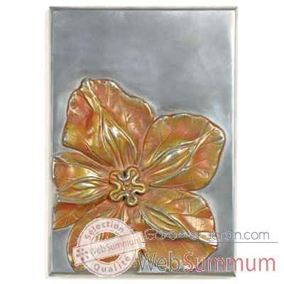 Decoration murale-Modele Cobaea Wall Plaque, surface aluminium-bs2392alu