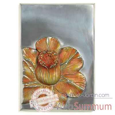 Decoration murale-Modele Plumarius Wall Plaque, surface aluminium-bs2395alu