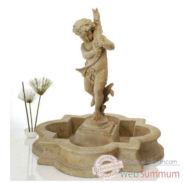 Fontaine-Modele Madrid Fountain Basin, surface marbre vieilli-bs3160ww