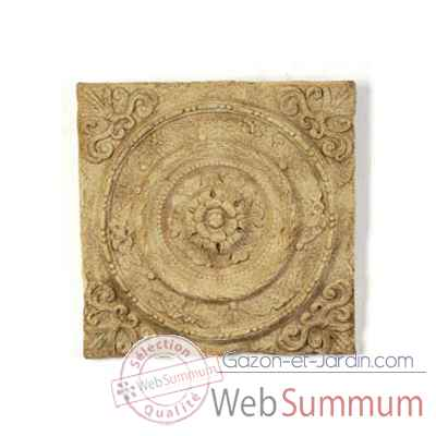 Decoration murale-Modele Rondelle Wall Plaque, surface rouille-bs3166rst