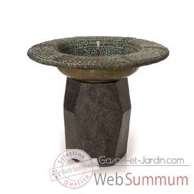 Fontaine-Modele Pebble Mosaic Ball Foutainhead, surface bronze avec vert-de-gris-bs3246ballvb