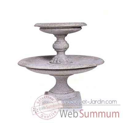 Fontaine-Modele Turin Fountainhead, surface granite-bs3313gry