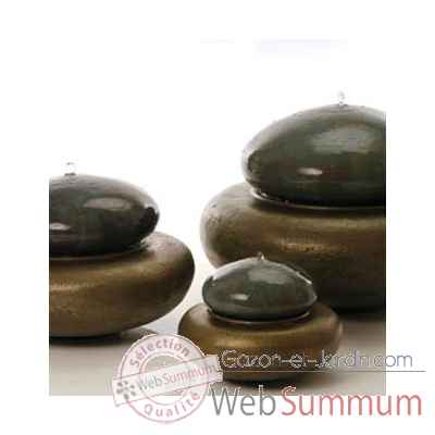 Fontaine-Modele Heian Fountain small, surface bronze avec vert-de-gris-bs3364vb