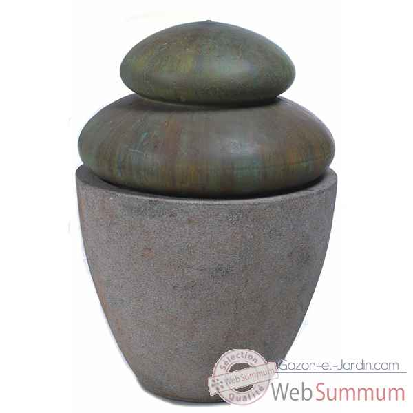 Fontaine-Modele Hao Fountain, surface granite avec bronze-bs3501gry/vb