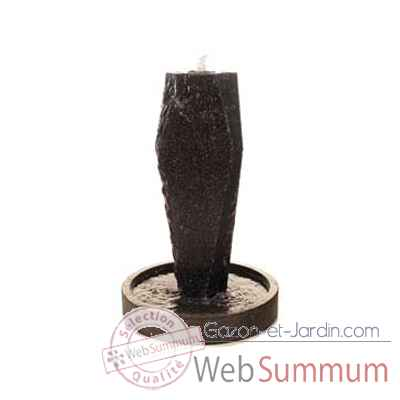 Fontaine-Modele Ayers Fountainhead 130, surface pierre noire-bs3506lava