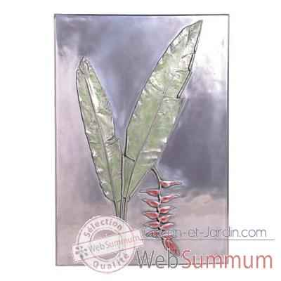 Décoration murale Hanging Heliconia Positive Wall Plaque, aluminium -bs2306alu
