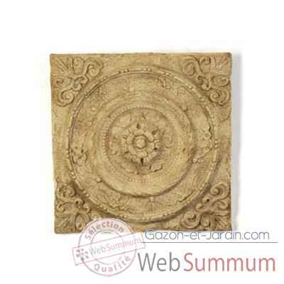 Decoration murale Rondelle Wall Plaque, marbre vieilli -bs3166ww
