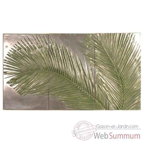 Decoration murale Palm Triptych, aluminium -bs4128alu