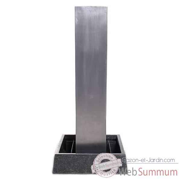 Fontaine Tower Fountain Square Basin, seulement bassin, aluminium -bs3129alu -basin