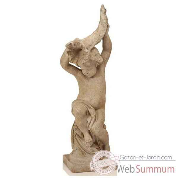 Fontaine Garden Cupid Cornucopia Fountainhead, granite -bs3144gry