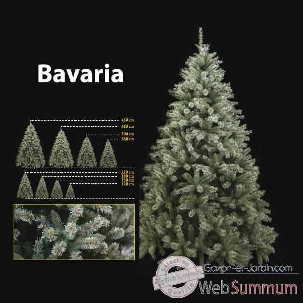 Sapin de Noël 210 cm Professionnel Bavaria Sapin 600 lumières Bleu-Vert