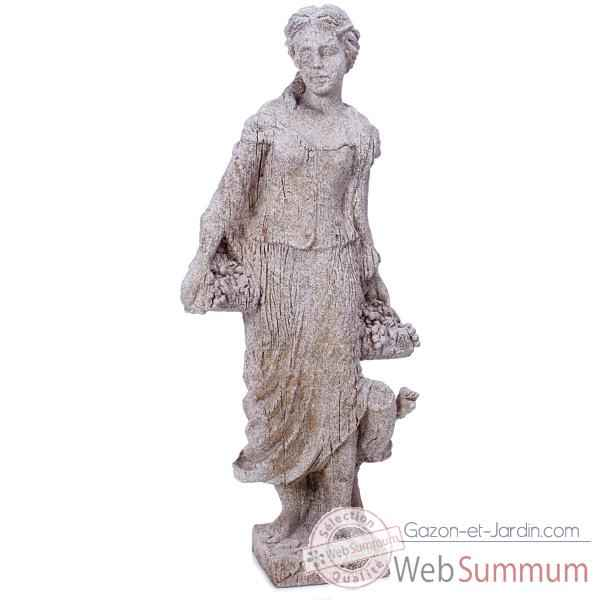 Sculpture Goddes of Autumn, pierres granite -bs3134gry