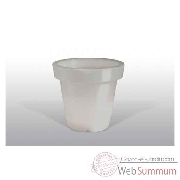 Pot Fleur Lampe 100 Cm Gris Bloom Dans Pot De Fleurs Lumineux Sur