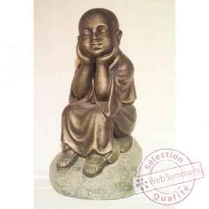 Bouddha il antique 25 cm bali bscha25 dans bouddha de for Bouddha dans jardin