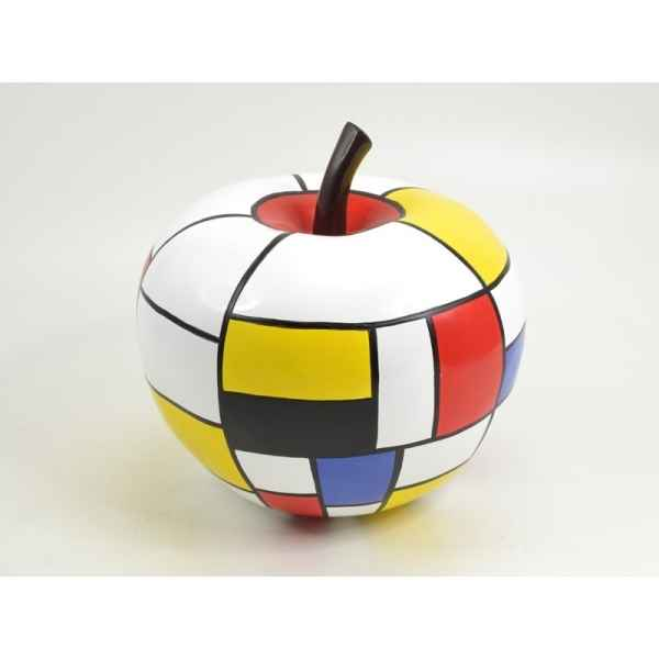 Statuette playful pomme coloree 28cm Edelweiss -C9086