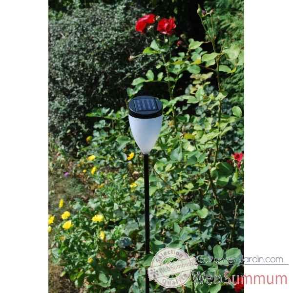 Lampe solaire dans am nagement jardin sur gazon et jardin for Decoration jardin solaire