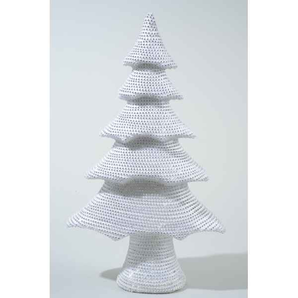 Sapin mousse avec pierres strass 42 cm Everlands -NF -455542