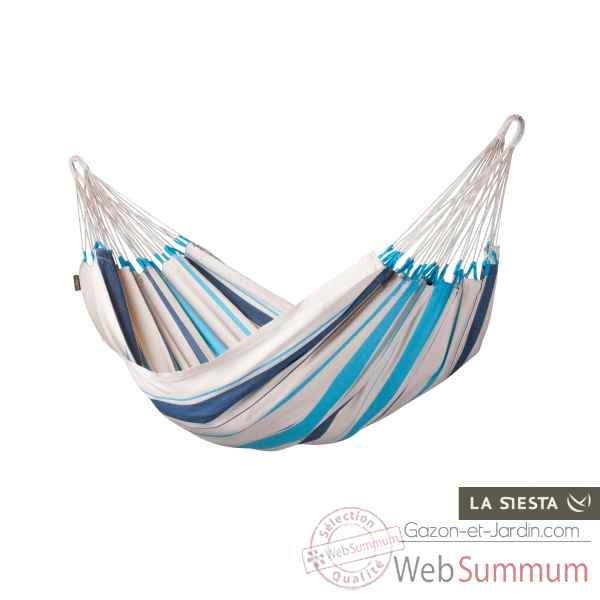 Hamac simple colombien caribena aqua blue La Siesta -CIH14-3