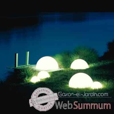 Lampe demi-lune Terracota socle a enfouir Moonlight -hmbgdlc550050
