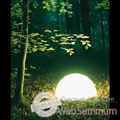 Lampe ronde socle a visser gres sable Moonlight -magslssr250.0153