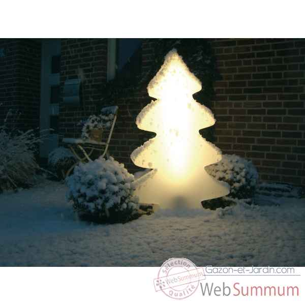 Sapin design dans d coration jardin no l sur gazon et jardin - Sapin exterieur lumineux ...