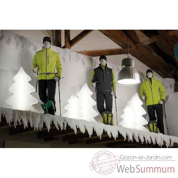 Sapin lumineux maxi blanc glac lumenio 16834 dans sapin design sur gazon e - Sapin design lumineux ...