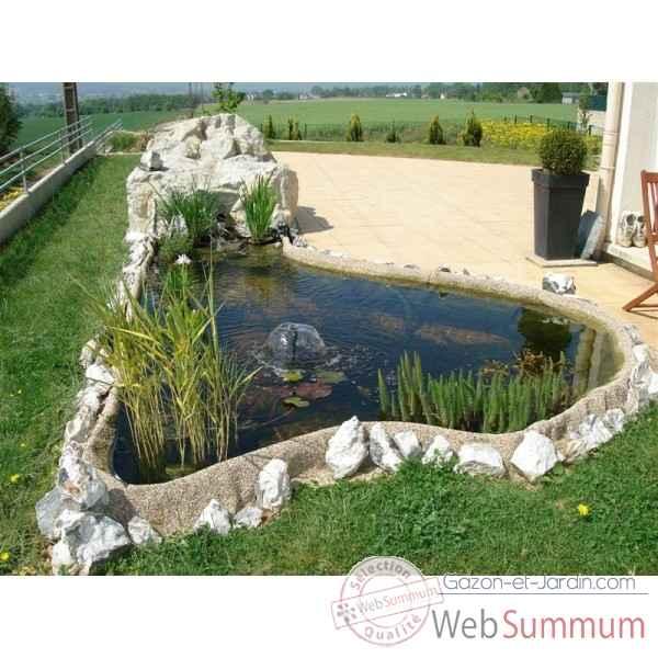 bassin et cascades dans d coration jardin sur gazon et jardin. Black Bedroom Furniture Sets. Home Design Ideas