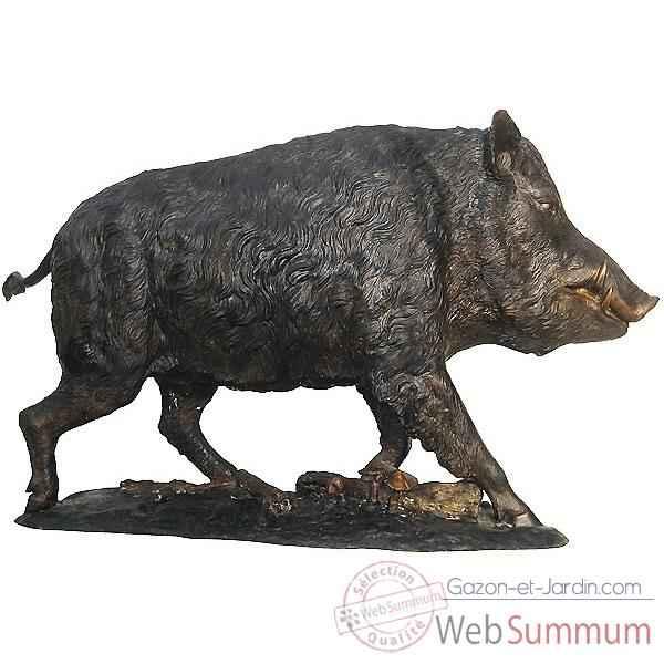 Sanglier en bronze brz1081 dans animaux de la foret sur for Decoration jardin animaux
