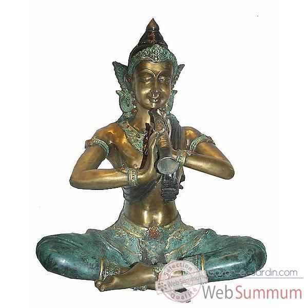 statuette danseuse tha en bronze brz258 35 de statuettes bronze gazon jardin. Black Bedroom Furniture Sets. Home Design Ideas