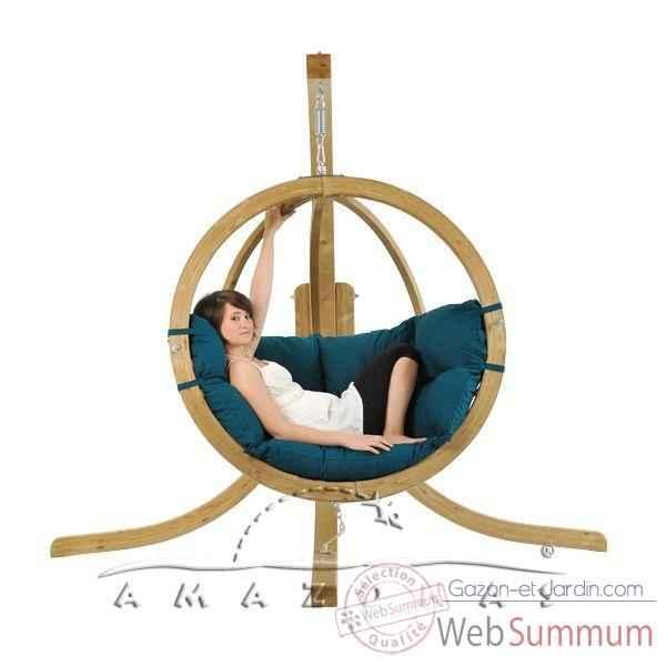 fauteuil relaxation dans hamac amazonas sur gazon et jardin. Black Bedroom Furniture Sets. Home Design Ideas
