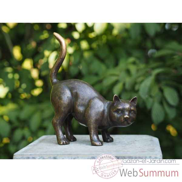 Sculpture chat en bronze thermobrass -an2127br-bi