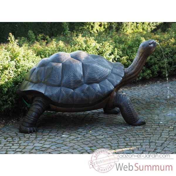 Sculpture tortue galapagos en bronze thermobrass -b1242