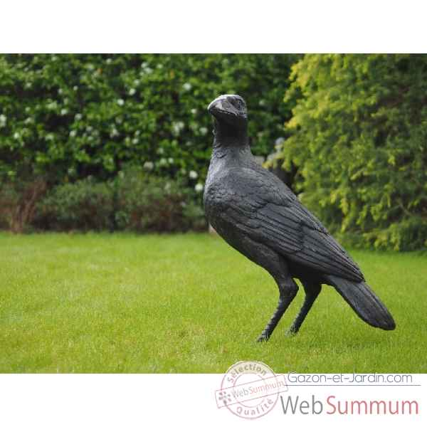 Statue en bronze grand corbeau thermobrass -b22022