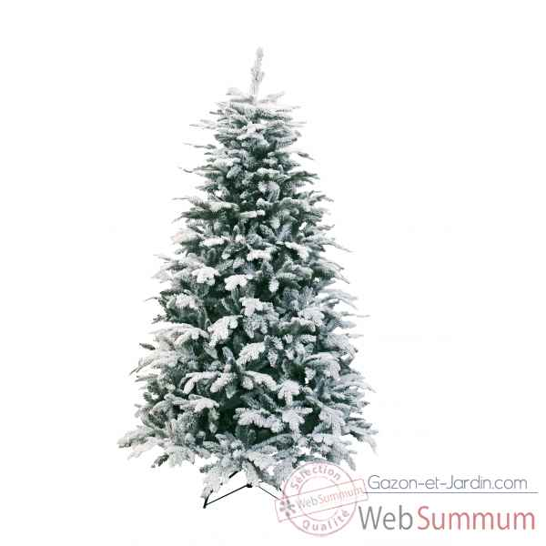 Sapin oslo snow pine hook on flocked white h225cm Van der Gucht -31OSL225